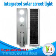 2015 China Manufacture All in One Solar power street garden LED Lights 8-40W