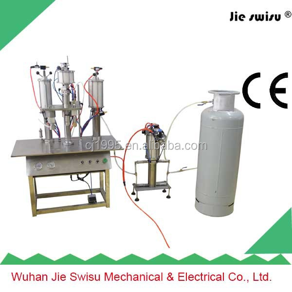 2015 Factory Sale Automatic Spray Paint Can Aerosol Filling Machine