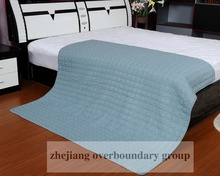 Wholesale thermal solid blue colored bedroom adult being microfiber fabric embroidery quilts and comforter