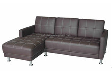 Modern style cheap living room ikea round luxury mini corner sofa Synthetic/Pu/Faux/leather L shape sectional sofa
