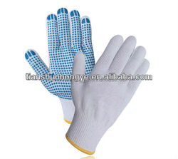 Industrial cotton PVC dots gloves , dots working gloves