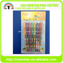 Alibaba China Supplier Excellent Glitter Used Colour Gel Pens