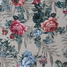 floral print thick rayon polyester fabric with tc bonding for sofa fabric