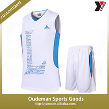2015 Custom cheap full sublimation basketball jersey/basketball uniform design
