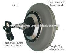8 polegada de cubo de roda elétrica kit de motor motor de scooter elétrico 24 V 250 W