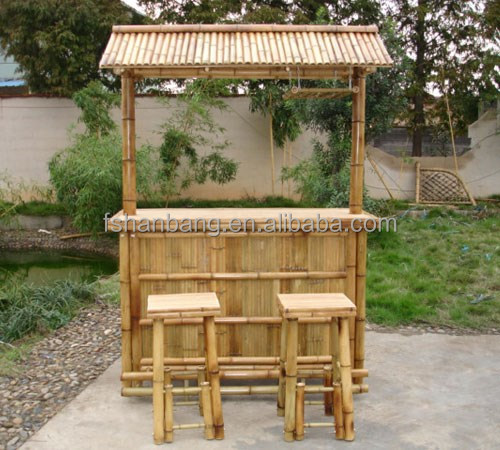 Outdoor Tiki Bar Stools : Outdoor Bamboo Counter Tiki Bar Table Chair Stool Set  Buy Bamboo