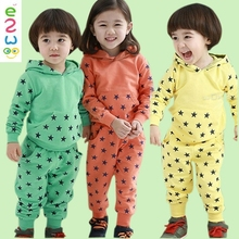 Lovely Wholesale Kid Clothes Organic Cotton Children Clothing Set