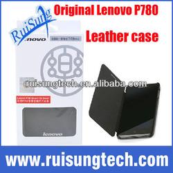100% Original Lenovo P780 Leather Case Black In Stock Lenovo P780 Case Flip Cover with Sleep Function