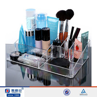 Glold supplier acrylic desk organizer/makeup organizer bag/acrylic makeup brush holder