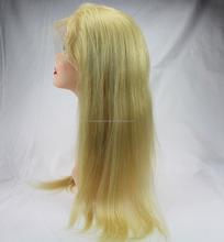 18inch Premium quality 613 blonde brazilian human hair real hair wig