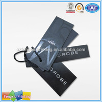 Black Color Private Hangtag Apparel Labels