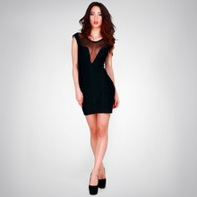 hot selling cheap sheath black sexy see through corset prom dress