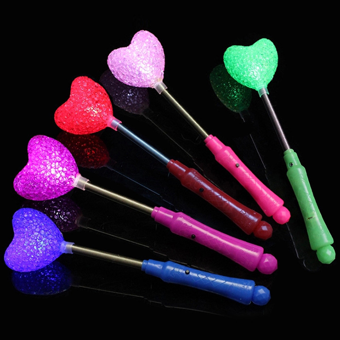 Wholesale flower and heart shaped led flashing stick for Led wands wholesale