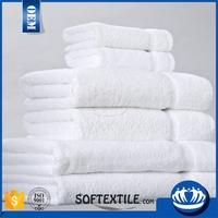 Luxury Plain Terry cloth 100% cotton White Bath Hotel towel set