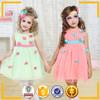 new design girls clothing brands tulle ball dresses children flower print girl dress