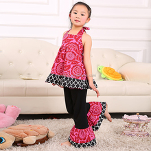 New style OEM Service 100% Cotton childrens boutique clothing fall 2015