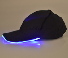 Halloween Fancy Blue Glow Fedora Hat/led flashing hat for the party