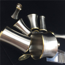 Custom made CNC metal parts double color plating chrome & gold plated electroplating factory