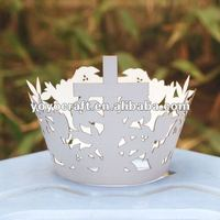 hot sell personalized Easter decoration laser cut customized unique individual cupcake holder