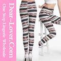 las minorías étnicas de moda de rayas sexy leggings 2014 las mujeres