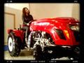 20hp 25hp mini tractor tractor de jardín con cultivador giratorio