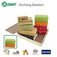 Colored Europe standard box gift packing box mini bamboo pen box