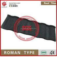 Villa Roof Tile Royal Style Sand and gravel Coating/colorful stone metal roofing tile