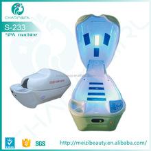 Super Deluxe LED light ozone sauna Digital Spa Space Capsule for Salon