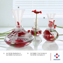 handmade designs clear glass vase for wedding decoration