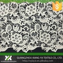 810004 Encaje bordado de algodón químico de diseño de alta calidad con tela de encaje