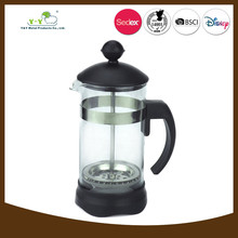 2015 new product in China black succinct plastic french press