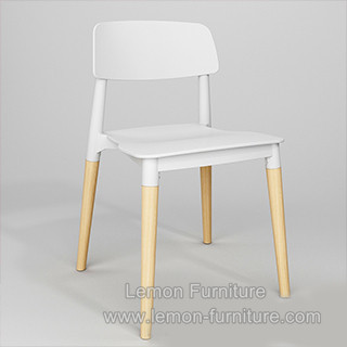 Ikea Clear White Stackable Plastic Chair Outdoor With Wood