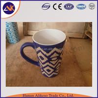 Hot sale bulk beautiful flowers printing cute coffee travel ceramic mugs