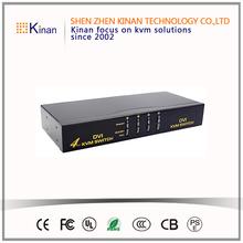 DVI VGA Dual Monitor 4 Port KVM Switch USB with Audio & USB 2.0 Hub- 4 port KVM Switch DVI