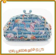 designer evening crystal bag animal shape bag