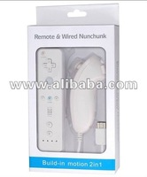 White Remote and nunchuk for WII Built-in Motion Plus