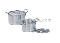 aluminum wide metal cooking pot with lid