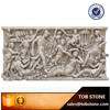 2015 classical Natural stone hand carving men and women wall relief