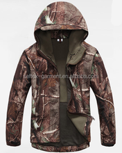 camo printed softshell jacket