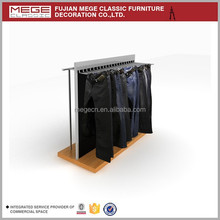 Retail garment store double side trousers display rack