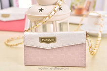 Perfect for ladies, deluxe wallet leather bag case for iPhone 5s, for iphone 5s leather bag