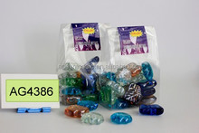 colored glass marbles in pvc box packed 350G/BOX (AG4386)