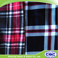 supply yarn dyed cotton flannel fabric for plaid shirt in the fall