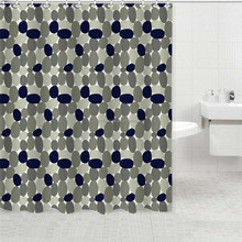 River Pebbles and Rocks Print Bathroom Shower Curtains Standard Size