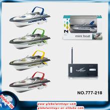 barco serie del deporte caliente mini-gw-t777-218 barcos de velocidad del rc juguetes 4 colores barco de carreras en venta