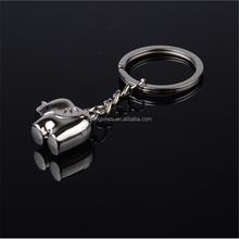 manufacturer supplier cute elephent custom metal key chain keyring parts