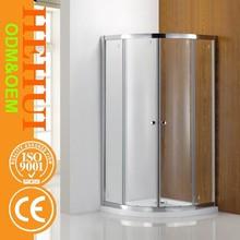KW002 Modern design bathroom aluminium alloy arc sliding bath shower room