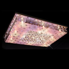 Modern family new square led luxury crystal ceiling lamps