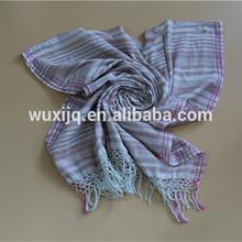 Algodón orgánico mayor con bufandas decorativas