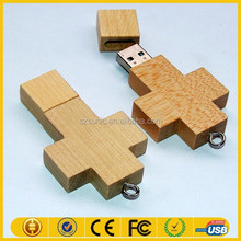 USB wooden wedding gift with box natural fashion wooden usb
